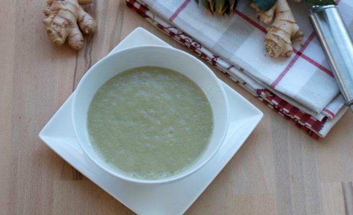 Crema di patate e carciofi con zenzero, ricetta facile e salutare