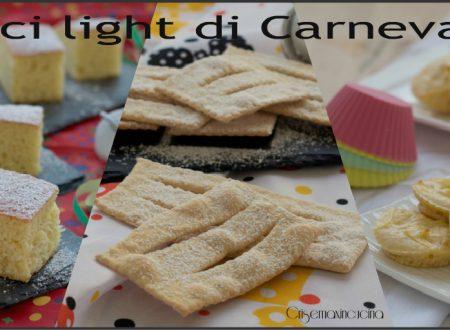 Dolci light per il Carnevale, ricette facili e leggere.