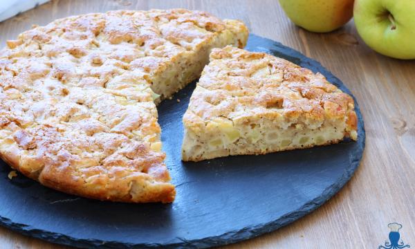 Torta di mele vegana, ricetta facile e veloce senza uova e burro