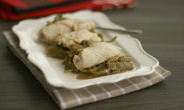 Involtini di petto di pollo con i carciofi, ricetta saporita