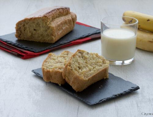 Plumcake  all'avena e banane, ricetta senza uova e burro