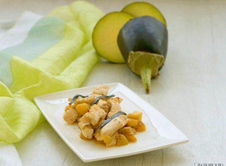 Straccetti di pollo con le melanzane, ricetta facile e veloce