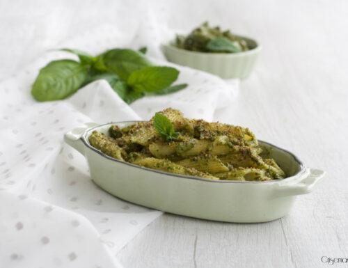 Penne con pesto alla menta e pistacchi, ricetta sfiziosa