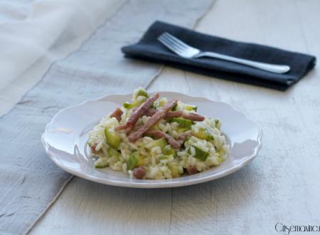 Risotto speck e zucchine, ricetta sfiziosa