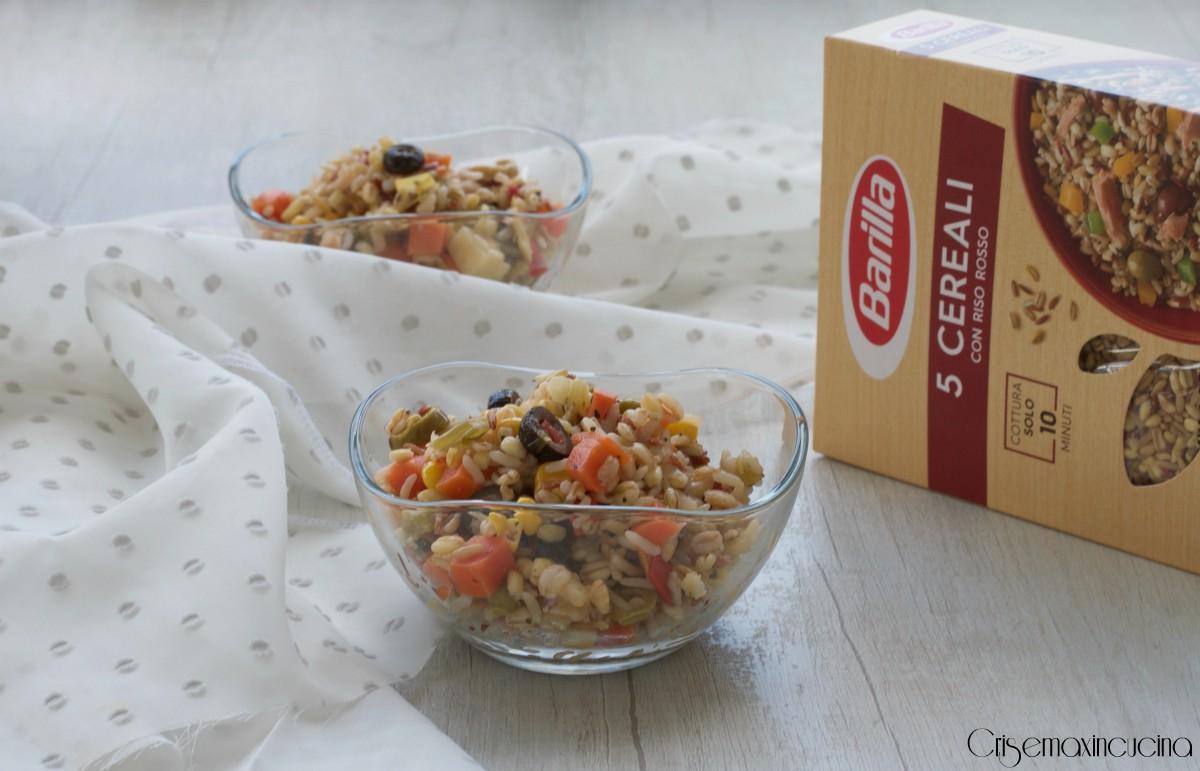 Insalata ai 5 cereali ricetta vegetariana cris e max in for Barilla ricette