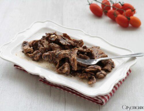 Straccetti di petto di pollo glassati, ricetta veloce