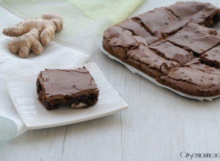Brownies con le mandorle e zenzero, ricetta golosa