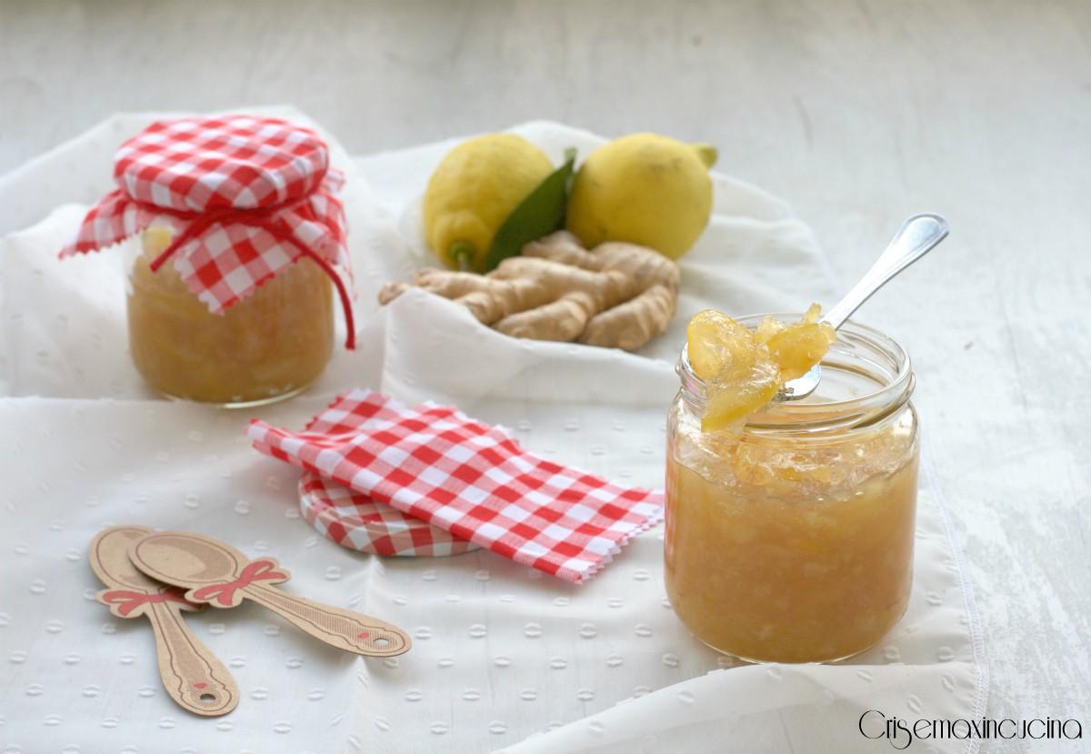 Far Bollire Vasetti Marmellata marmellata di limoni e zenzero, ricetta homemade.