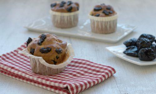 Muffin light con le prugne secche, ricetta facile e veloce