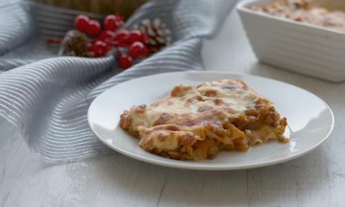 Lasagne con zucca e lenticchie, ricetta della festa