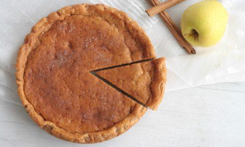 Torta light all'acqua con le mele cotte, ricetta facile
