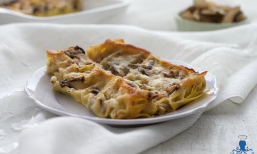Cannelloni con funghi e besciamella, ricetta della festa