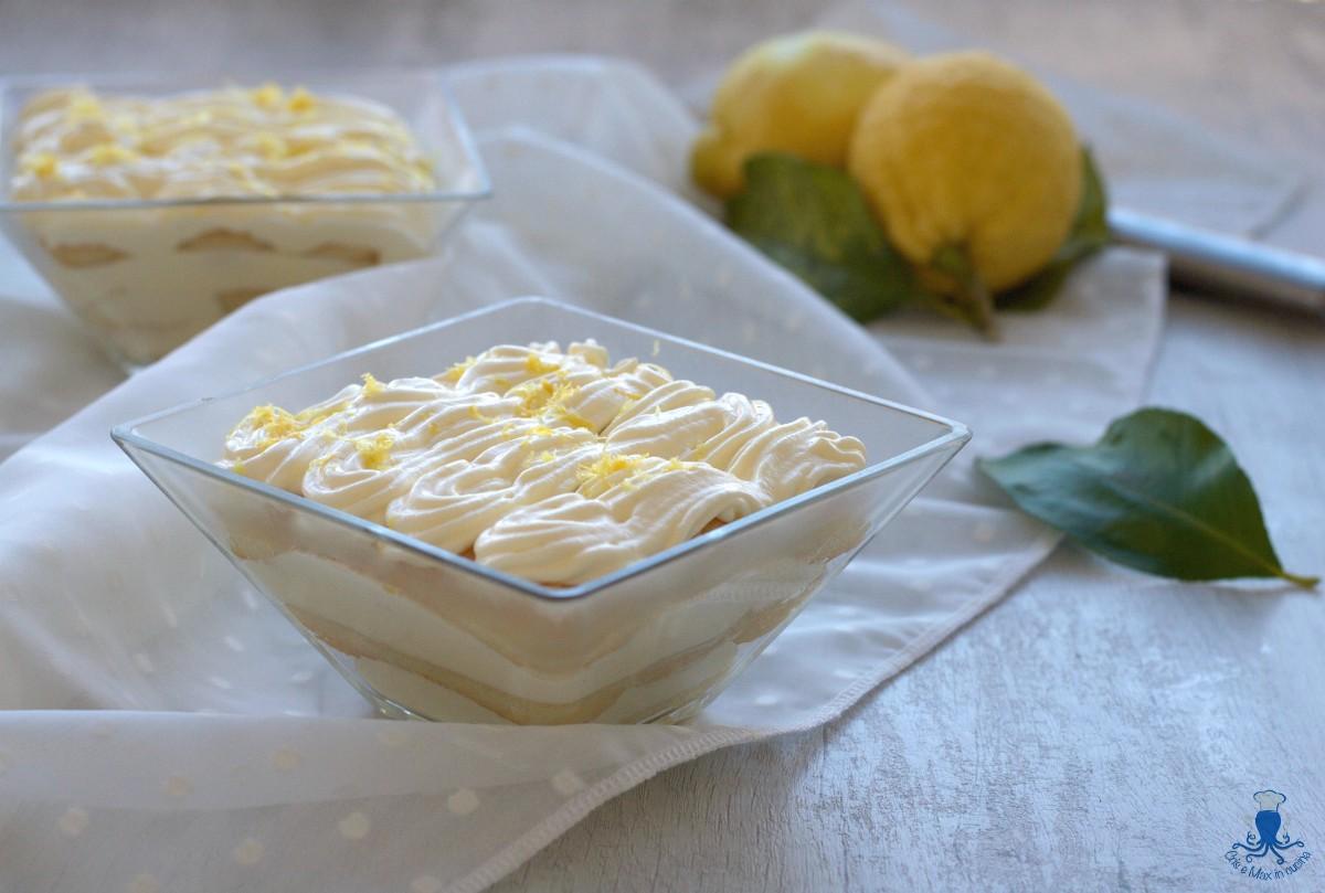 Tiramisù con Crema al Limone, Ricetta Raffinata Ed Elegante