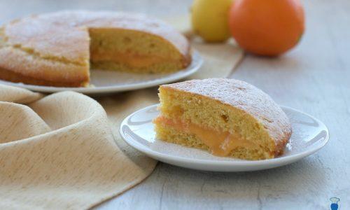 Torta farcita con crema agli agrumi, ricetta facile e veloce