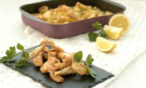 Straccetti di pollo impanati al forno, ricetta facile e leggera