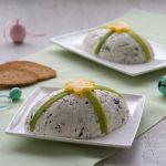 Uovo di caprino con olive nere