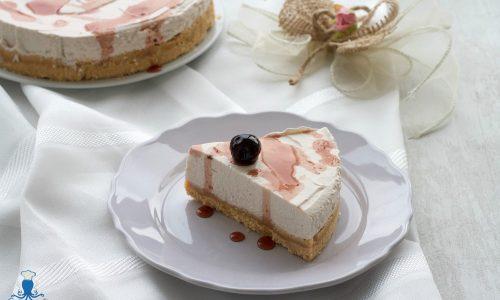 Cheesecake alla ricotta con le amarene, ricetta senza gelatina