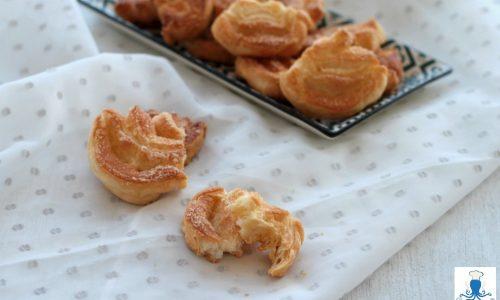 Palmine di pasta sfoglia, ricetta golosa facile e veloce