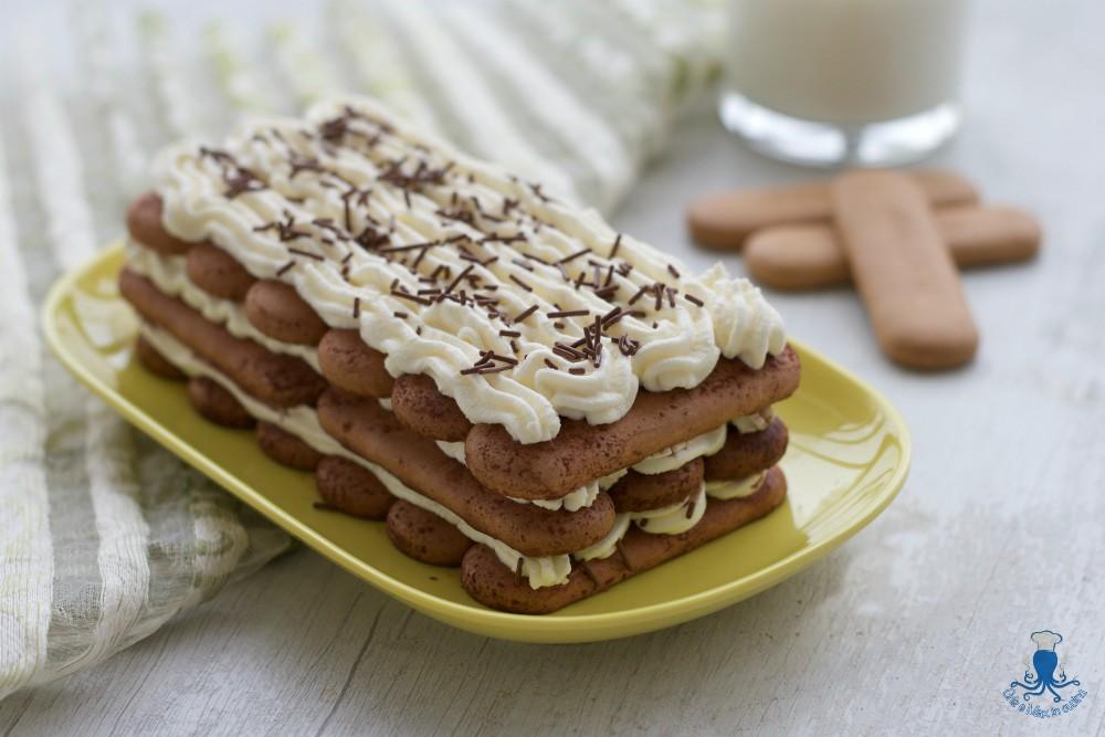 Tiramisu' Rivisitato con i Biscotti, Ricetta Golosa Senza Uova