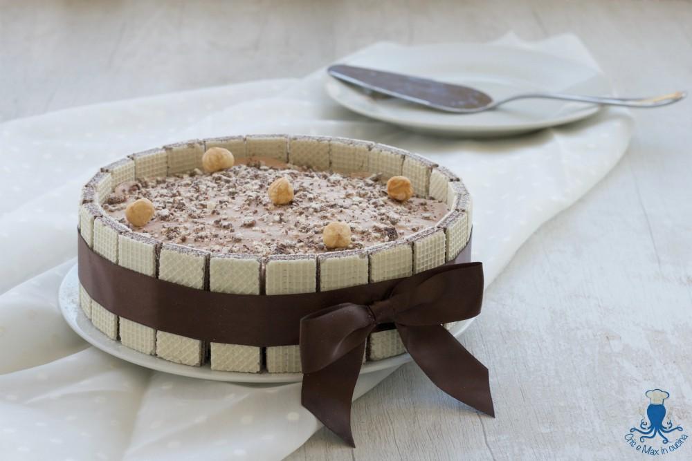 Torta Gelato Nocciole, Nutella e Wafer, Ricetta Golosa