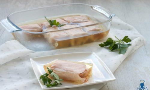 Fagottini di arrosto di tacchino in gelatina, ricetta facile