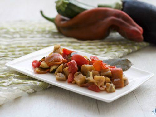 Ratatouille, contorno leggero  di verdure miste estive