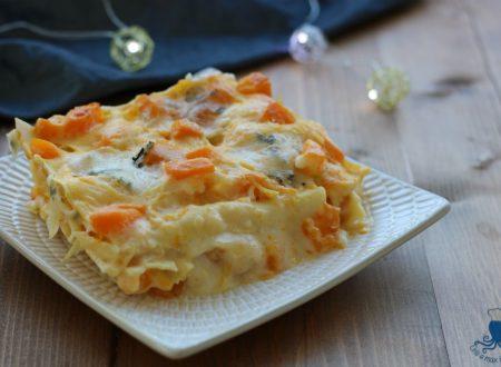Lasagne cremose alla zucca e gorgonzola, ricetta facile