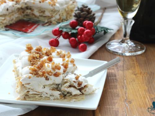 Millefoglie con crema di marroni e panna, ricetta delle feste