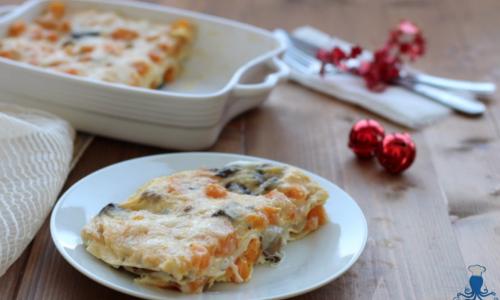 Lasagne alla zucca e funghi, ricetta vegetariana delle feste