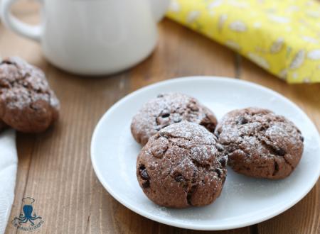 Biscotti  al cioccolato fondente, con gocce di cioccolato