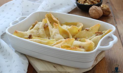 Conchiglioni al forno con gorgonzola e noci, ricetta delle feste
