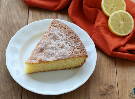Torta soffice al limone, ricetta di facile e veloce preparazione