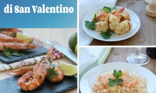 Menu' raffinato di San Valentino, raccolta di ricette a base di gamberi