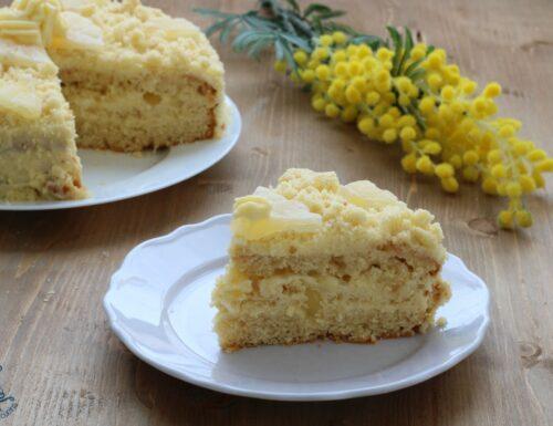 Torta mimosa all'ananas candito, ricetta raffinata e golosa