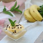 gelato alla banana con gocce di cioccolato