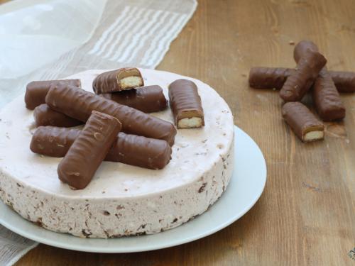 Torta gelato twix, ricetta golosissima  facile e veloce