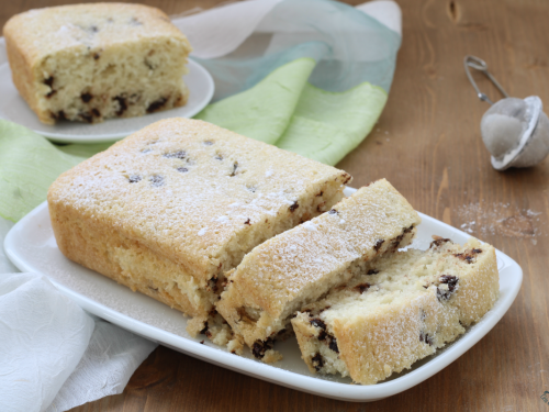 Plumcake all'acqua al cocco e  cioccolato, ricetta facile