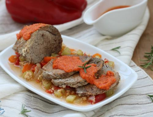 Arrosto con i peperoni, secondo piatto gustoso e di facile preparazione