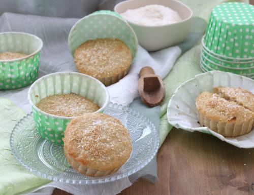 Muffin vegani al cocco, ricetta con e senza Versilia.