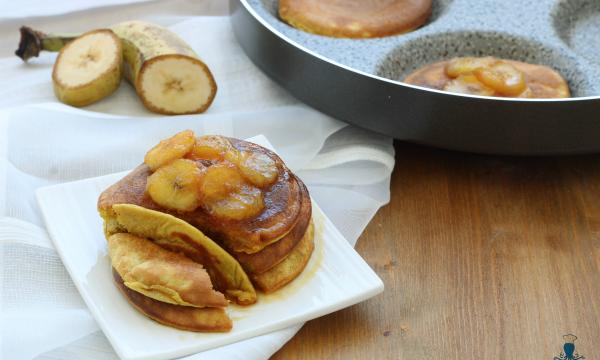 Pancake alla banana, ricetta facile e veloce senza latte
