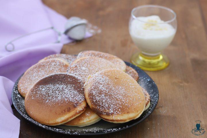 Pancake yogurt e cioccolato bianco