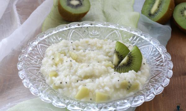 Risotto ai kiwi, primo piatto sfizioso con e senza Bimby