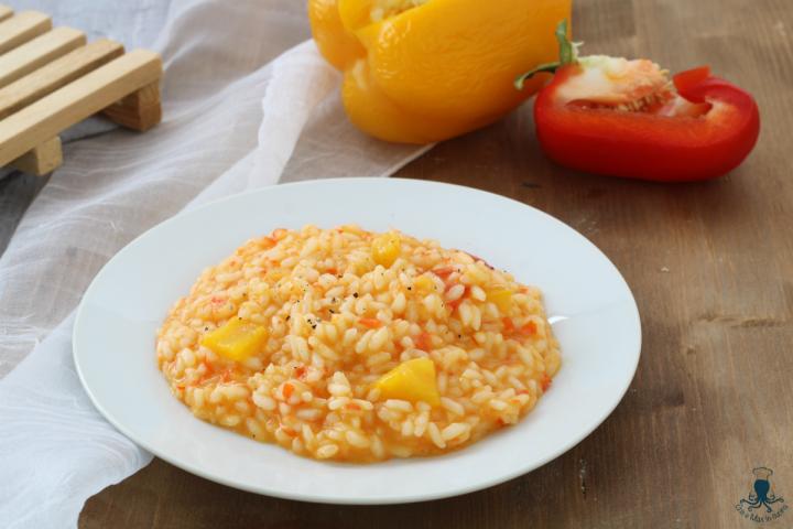 risotto con i peperoni