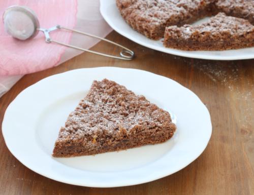 Sbriciolata al cacao con marmellata di agrumi, ricetta facile e golosa.
