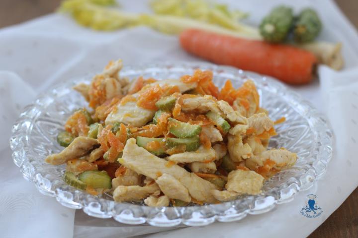 Straccetti di pollo con verdure1