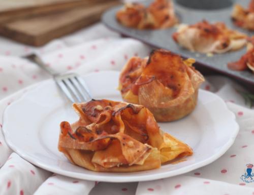 Cestini di lasagne, ricetta raffinata ed elegante delle feste