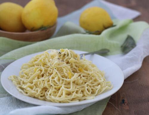 Tagliolini al limone, primo piatto originale e raffinato