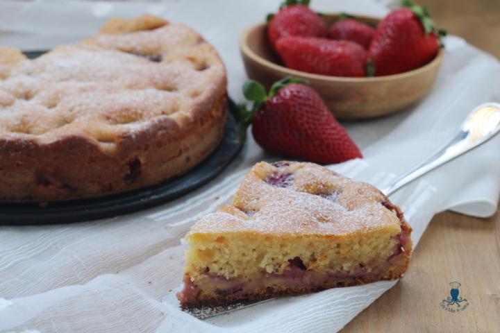 Torta fragole e ricotta