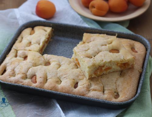 Torta albicocche e panna (nell'impasto), ricetta golosa