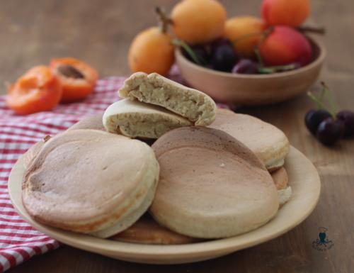 Pancake fit con albumi, ricetta con farina di avena.